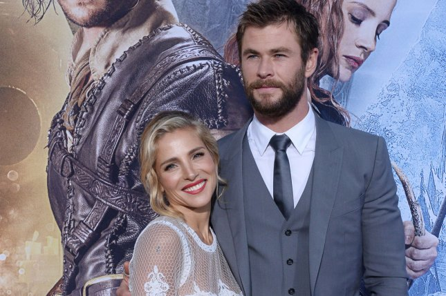 Chris Hemsworth (R) and Elsa Pataky at the Los Angeles premiere of The Huntsman: Winter's War on April 11. File Photo by Jim Ruymen/UPI