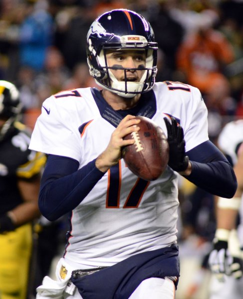 Former Denver Broncos quarterback Brock Osweiler, once considered a top prospect, was cut by the Cleveland Browns on Friday. Photo by Archie Carpenter/UPI