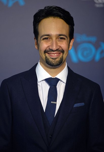 Lin-Manuel Miranda arrives at the world premiere of Moana at El Capitan Theatre in Los Angeles on November 14, 2016. Miranda released a song titled Almost Like Praying featuring Jennifer Lopez and 21 other Latino stars to raise funds for Hurricane Maria relief in Puerto Rico. File Photo by Christine Chew/UPI