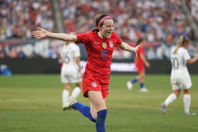 United States Women's National Team midfielder Rose Lavelle had two assists in a win against Costa Rica in a soccer friendly Sunday in Jacksonville. File Photo by Bill Greenblatt/UPI