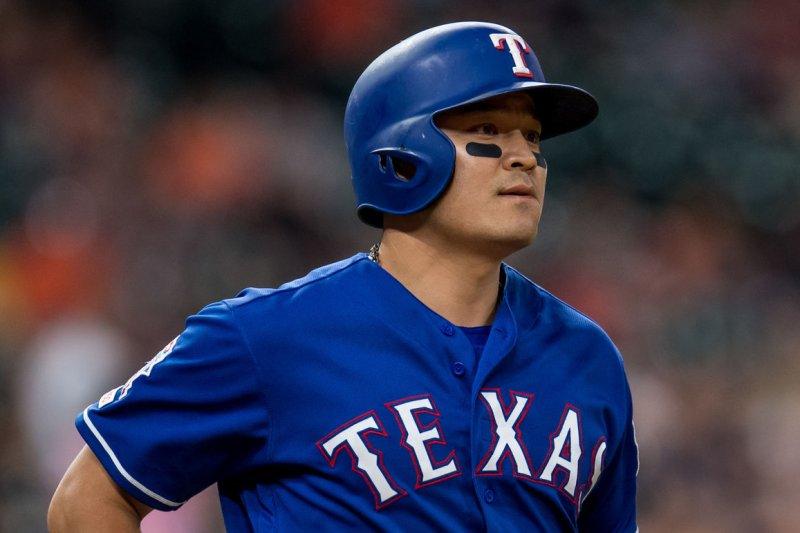 Shin-Soo Choo, who spent his last seven MLB seasons with the Texas Rangers, will play the 2021 season in the Korean Baseball Organization. File Photo by Trask Smith/UPI