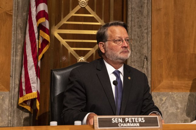 Sen. Gary Peters, D-Mich., announced Tuesday that the Homeland Security and Governmental Affairs Committee will investigate the role cryptocurrencies play in encouraging and emboldening cybercrime.File Photo by Tasos Katopodis/UPI