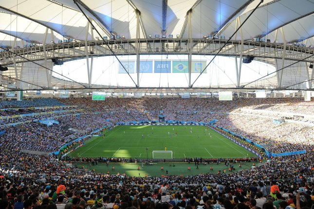 Maracanã Stadium was the site of the 2014 World Cup in Rio de Janeiro, Brazil and also will be where the opening and closing ceremonies will take place. The World Anti-Doping Agency has suspended the country's drug testing lab. File photo by Chris Brunskill/UPI.
