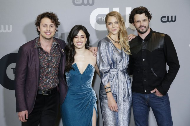 Season 2 of Roswell -- starring, left to right, Michael Vlamis, Jeanine Mason, Lily Cowles and Nathan Dean Parsons -- kicks off Monday on The CW. File Photo by John Angelillo/UPI