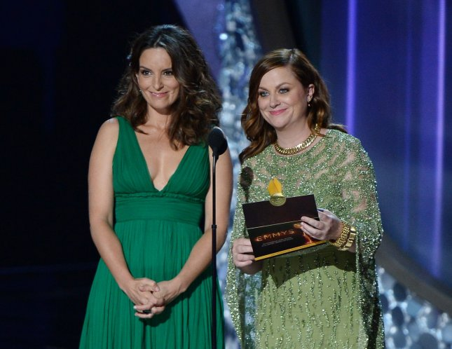Tina Fey (L) and Amy Poehler addressed criticism of the HFPA when they hosted last weekend's Golden Globe Awards ceremony. File Photo by Jim Ruymen/UPI