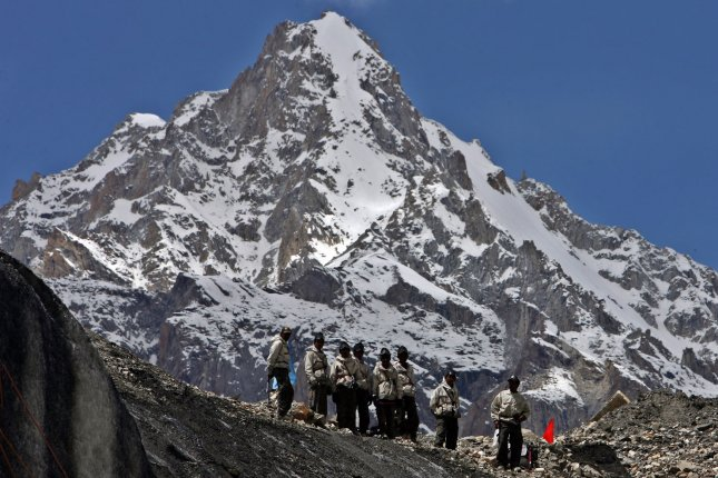 Pakistan's Northern Areas are reported to have more than 5,000 glaciers. The Siachen Glacier is located in the eastern Karakoram Range in the Himalaya mountains. UPI File Photo