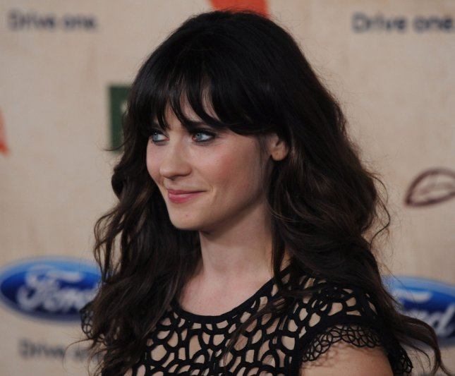 Actress Zooey Deschanel, a cast member on the television series New Girl attends Fox's Fall Eco-Casino party at the Bookbindery in Culver City, California on September 12, 2011. UPI/Jim Ruymen
