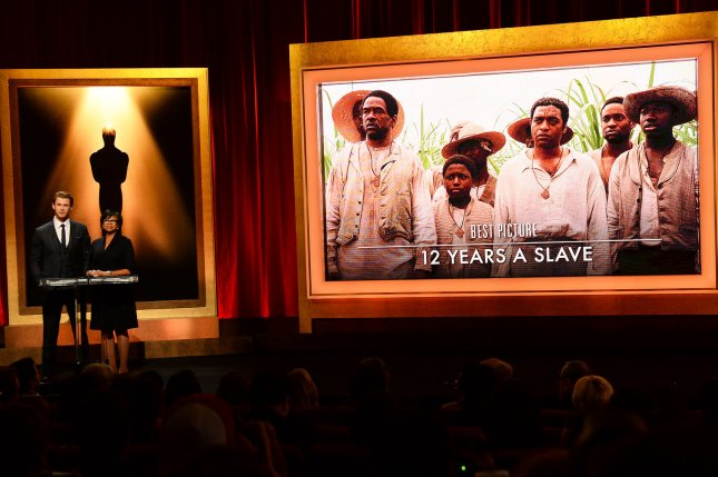 The Oscar nominees for Best Picture including 12 Years A Slave are announced by actor Chris Hemsworth (L) and Academy of Motion Picture Arts and Sciences President Cheryl Boone Isaacs at the Samuel Goldwyn Theatre in Beverly Hills, California on January 16, 2014. The 86th annual Academy Awards will take place March 2. UPI/Jim Ruymen