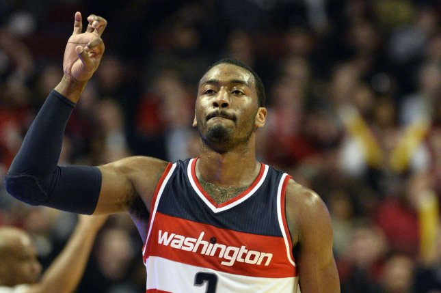John Wall scored 22 points and Bradley Beal had 19 as the Washington Wizards defeated the Brooklyn Nets 129-108 Friday night and clinched a playoff berth. File Photo by Brian Kersey/UPI
