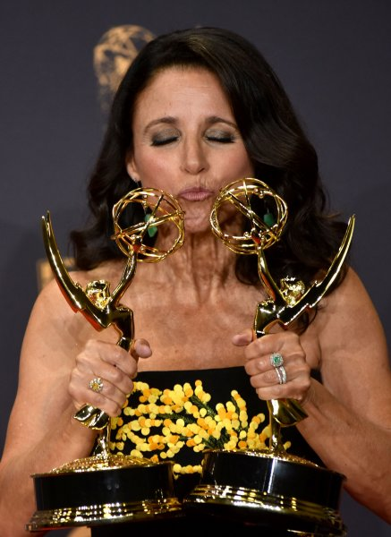 Actress/producer Julia Louis-Dreyfus is back at work on her comedy series Veep. File Photo by Christine Chew/UPI