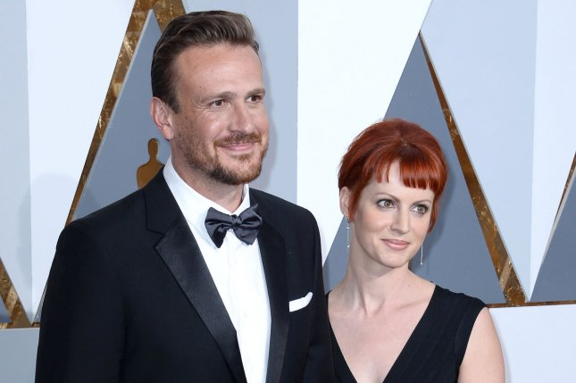 Jason Segel (L) and Alexis Mixter arrive on the red carpet for the 88th Academy Awards at the Hollywood and Highland Center in the Hollywood section of Los Angeles on February 28, 2016. The actor turns 40 on January 18. File Photo by Jim Ruymen/UPI