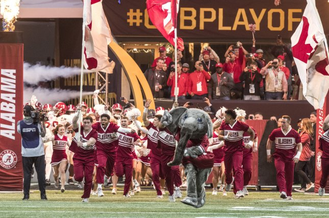 The Alabama Crimson Tide have an open date this weekend before a matchup against LSU on Nov. 14. File Photo by Mark Wallheiser/UPI
