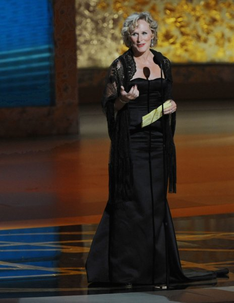 Glenn Close accepts the award for lead actress in a drama series for Damages at the 60th annual Primetime Emmy Awards in Los Angeles on September 21, 2008. (UPI Photo/Jim Ruymen)