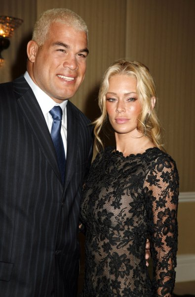 Tito Ortiz and Jenna Jameson arrive on the red carpet at the 18th annual Night of 100 Stars Oscar viewing party at the Beverly Hills Hotel in Beverly Hills, California on February 24, 2008. (UPI Photo/David Silpa)
