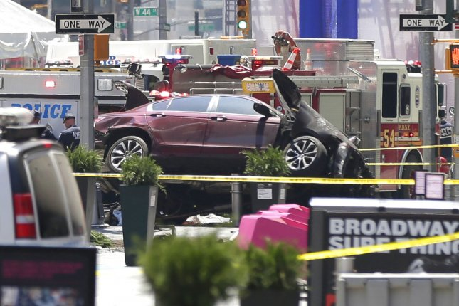 NY Square pedestrian horror: Accused driver taken in for 'evaluation'