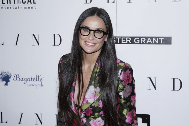 Demi Moore attends the New York premiere of Blind on Monday. The actress attended a family friend's wedding with daughters Rumer, Scout and Tallulah Willis. File Photo by John Angelillo/UPI