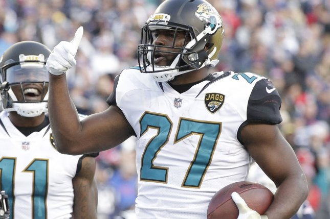 Jacksonville Jaguars running back Leonard Fournettte is out for this weekend's game against the Kansas City Chiefs. Photo by John Angelillo/ UPI