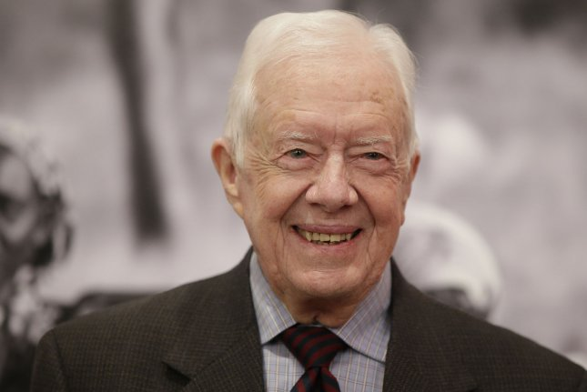 Former President Jimmy Carter was released from a Georgia hospital on Wednesday after multiple days of treatment for a urinary tract infection. File Photo by John Angelillo/UPI