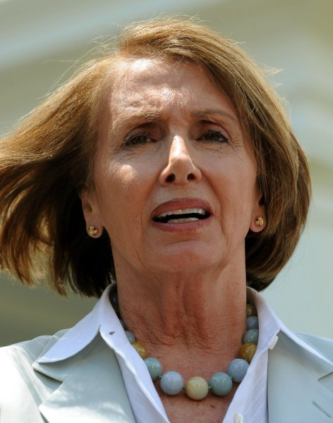 Speaker of the House Nancy Pelosi, D-CA, speaks to the media following a bipartisan meeting of Members of Congress with U.S. President Barack Obama at the White House in Washington on June 10, 2010. UPI/Roger L. Wollenberg