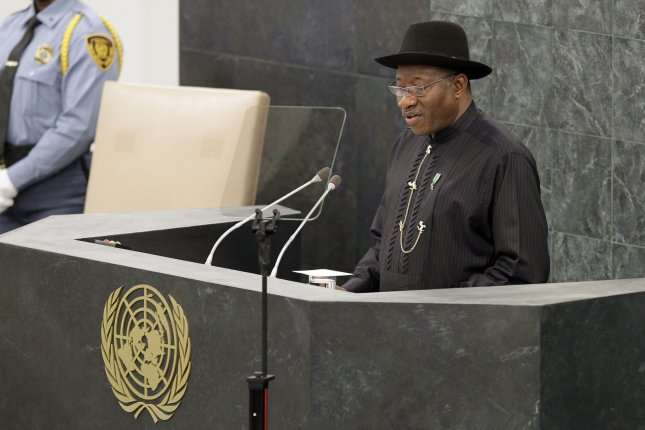 Nigerian President Goodluck Jonathan is up for reelection.