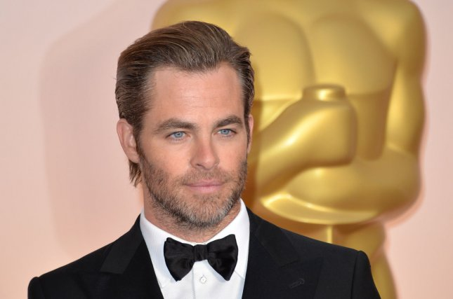 Chris Pine at the Academy Awards on Feb. 22. The actor returns in a first 'Star Trek Beyond' trailer. File Photo by Kevin Dietsch/UPI