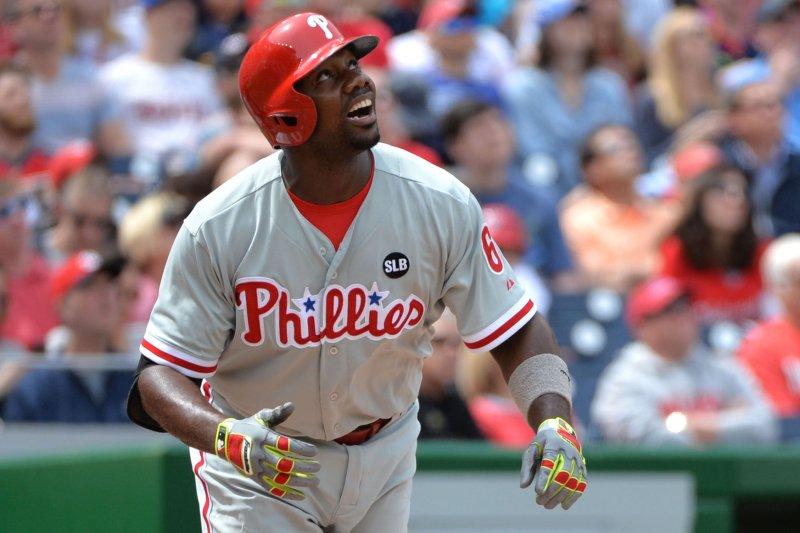 Philadelphia Phillies first baseman Ryan Howard. Photo by Kevin Dietsch/UPI