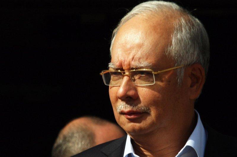 Former Prime Minister Najib Razak has been taken into state custody. File Photo by Ismael Mohamad/UPI