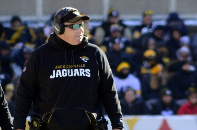 Jacksonville Jaguars head coach Doug Marrone watches on the sideline in the  first quarter of the AFC Divisional Round against the Pittsburgh Steelers  on ... 24e9405ad