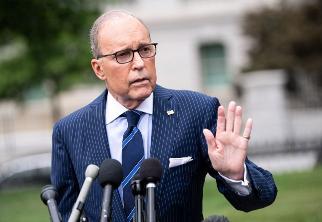 White House economic adviser Larry Kudlow said Sunday he does not see any recession on the horizon after an up and down week for the stock markets.  Photo by Kevin Dietsch/UPI