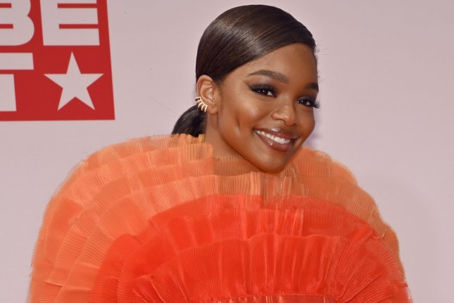 Marsai Martin is set to star in Nickelodeon film Fantasy Football, which is heading to Paramount+. File Photo by Jim Ruymen/UPI