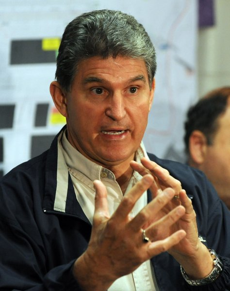 West Virginia Gov. Joe Manchin tells reporters poisonous gasses in Upper Big Branch Mine are still too dangerous for rescue workers to enter in Montcoal, West Virginia on April 8, 2010. Four miners remain unaccounted for after an April 5 explosion at the mine operated by Performance Coal Company, a subsidiary of Massey Energy. Twenty five men are confirmed dead and two others are in hospitals. UPI/Roger L. Wollenberg