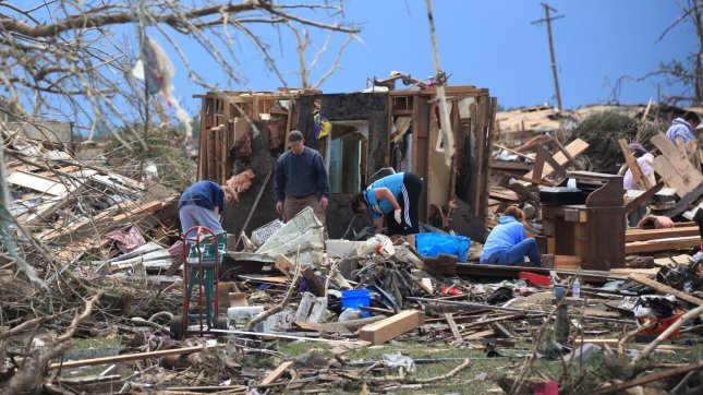A path of destruction is seen in the aftermath of a series of tornadoes in Moore, Oklahoma, May 21, 2013. On May 20 a series of tornadoes swept through severals towns south of Oklahoma City leaving a path of destruction and killing at least 24 people. UPI/J.P. Wilson