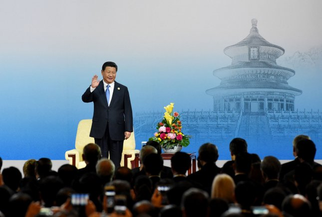 Chinese President Xi Jinping attends the opening ceremony of the 2014 Asia-Pacific Economic Cooperation (APEC) CEO Summit in Beijing Nov. 9, 2014. Leaders of more than half the world's economy are gathering in China's capital for the annual APEC forum. UPI/Ma Zhancheng/Pool