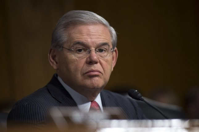 Bob Menendez, a Democratic senator from New Jersey, was indicted on federal corruption charges in 2015, with the Justice Department saying he accepted $1 million in bribes from ophthalmologist Salomen Melgen of Palm Beach, Fla., in exchange for using his position to benefit Melgen's financial interests. File photo by Kevin Dietsch/UPI