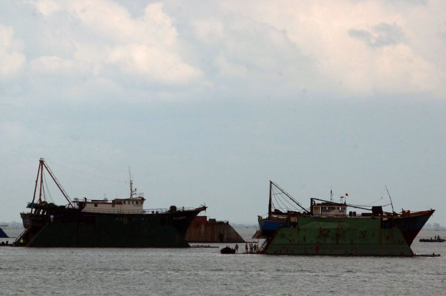 Chinese fishing boats are catching small fry in South Korean waters, a violation of law, local authorities said Tuesday. File Photo by Stephen Shaver/UPI