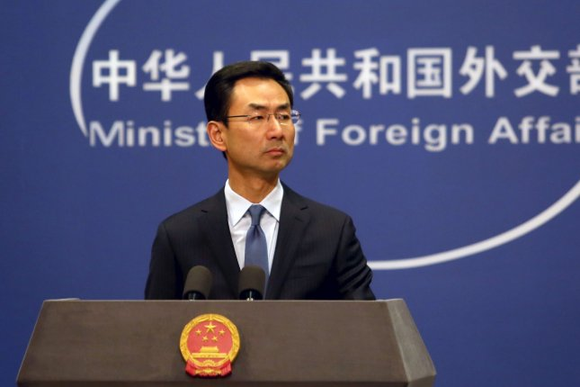 China's foreign ministry spokesman Geng Shuang condemned groundless attacks against China on Monday. File Photo by Stephen Shaver/UPI