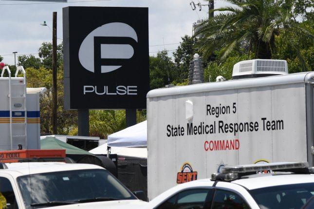 The Senate on Wednesday passed a bill to designate the site of the June 12, 2016, mass shooting that killed 49 people at Pulse nightclub in Orlando, Fla., as a national memorial. FilePhoto by Gary I Rothstein/UPI