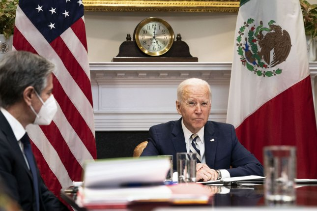 Biden has attempted a softer touch with regard to immigration, vowing to cap the flow of border crossings, but also promising to enhance legal pathways to U.S. citizenship.File Photo by Anna Moneymaker/UPI