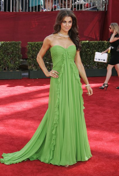TV Personality Samantha Harris poses for photographers at the red carpet of the 61st Emmy Awards at the Nokia Center in Los Angeles, California on September 20, 2009. UPI/Lori Shepler