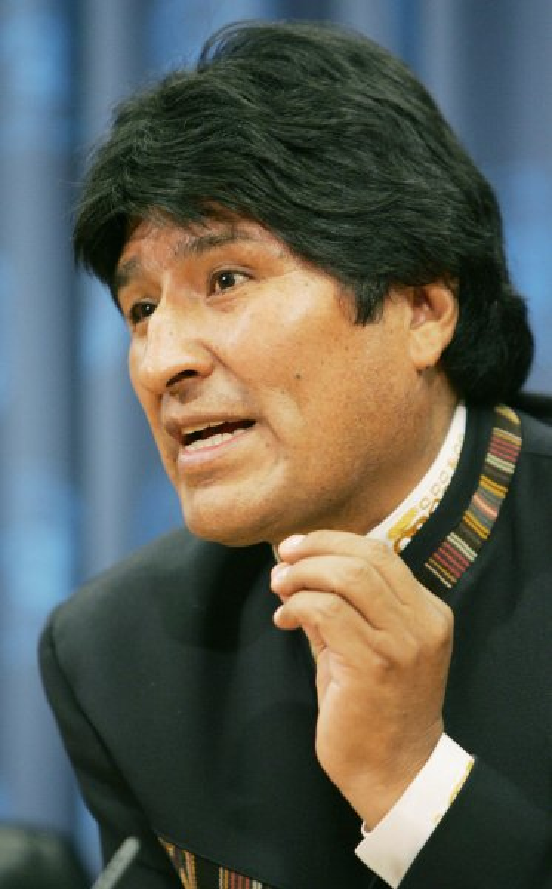 Evo Morales Ayma, president of Boliva, is shown in New York Sept. 23, 2008. (UPI Photo/Monika Graff)