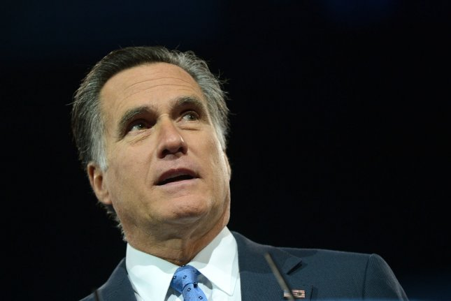 Former Massachusetts Gov. Mitt Romney, the 2012 Republican presidential nominee, warned Republicans not to nominate Donald Trump this year. Photo by Kevin Dietsch/UPI
