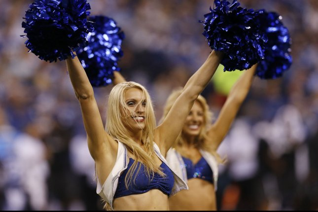 Indianapolis Colts' cheerleaders. Photo by John Sommers II/UPI