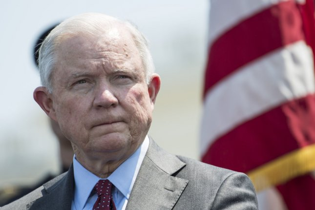 U.S. Attorney General Jeff Sessions on Monday promised a stricter interpretation of U.S. asylum laws to better crack down on the number of migrants allowed to enter the United States without sufficient grounds. File Photo by Kevin Dietsch/UPI
