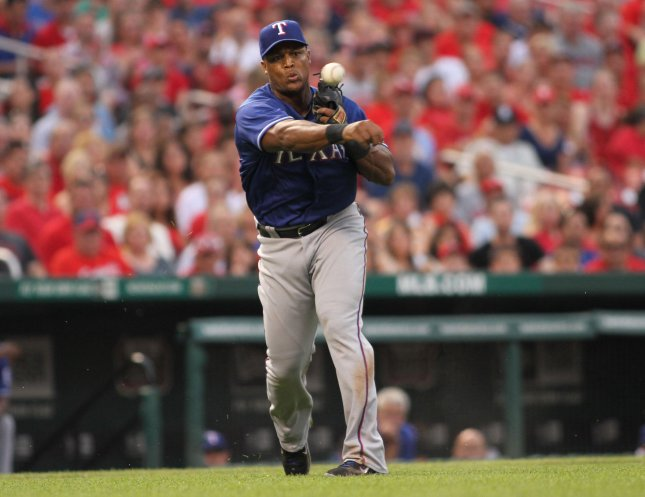 Adrian Beltre and the Texas Rangers face the Arizona Diamondbacks on Tuesday. Photo by Rob Cornforth/UPI