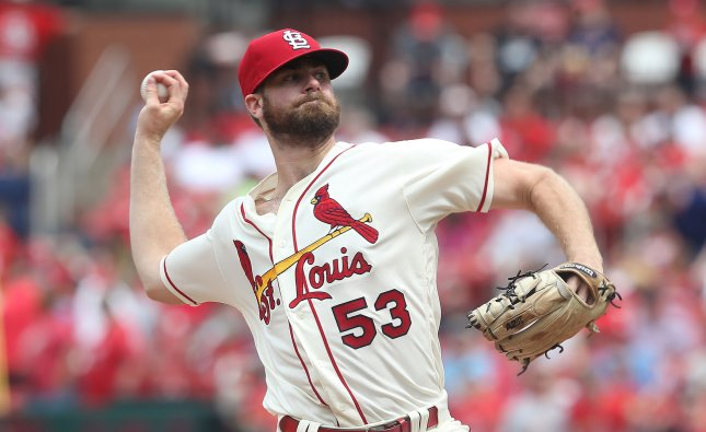 John Gant and the St. Louis Cardinals take on the Pittsburgh Pirates on Friday. Photo by Bill Greenblatt/UPI