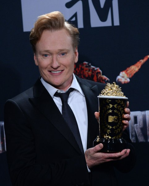Comedian Conan O'Brien talked to reporters in New York Thursday about his new show format. File Photo by Jim Ruymen/UPI