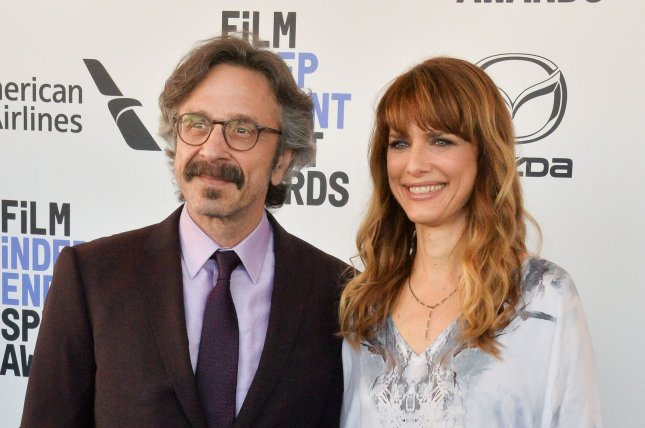 Marc Maron shared memories about his late girlfriend, director Lynn Shelton (R), who died Saturday. File Photo by Jim Ruymen/UPI