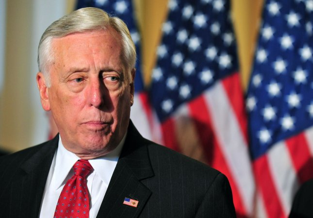 House Minority Whip Steny Hoyer is rejecting Republican ransom demands in the debt ceiling debate and opposing further tax cuts for the rich. UPI/Kevin Dietsch