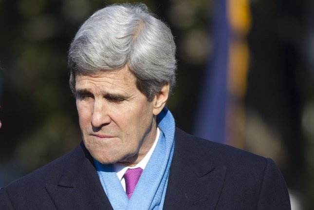 U.S. Secretary of State John Kerry, pictured on February 11, 2014, criticized the Syrian regime of obstruction at the second round of Syrian peace talks in Geneva that concluded on February 15, 2014. (UPI/Andrew Harrer/Pool)