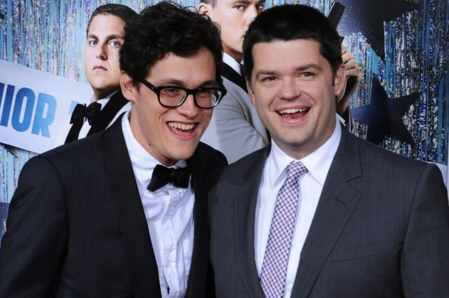 Phil Lord (L) and Christopher Miller, who co-directed the motion picture action comedy 21 Jump Street, attend the premiere of their new film at Grauman's Chinese Theatre in the Hollywood section of Los Angeles on March 13, 2012. File Photo by Jim Ruymen/UPI